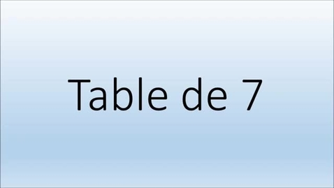Thumbnail for entry Addition Table de 7