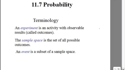Thumbnail for entry 11.7 probability