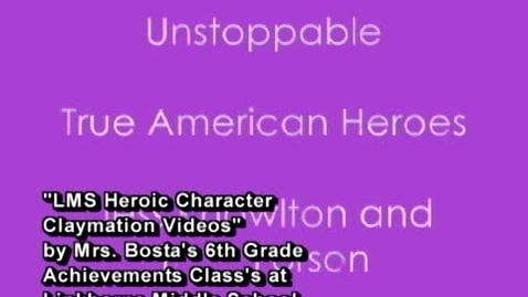 Thumbnail for entry LMS Heroic Character Claymation Videos 2