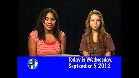 Thumbnail for entry Wednesday, September 5, 2012