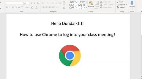 Thumbnail for entry Log into Chrome