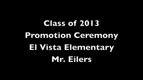 Thumbnail for entry 2012-2013 6th Grade Promotion Ceremony