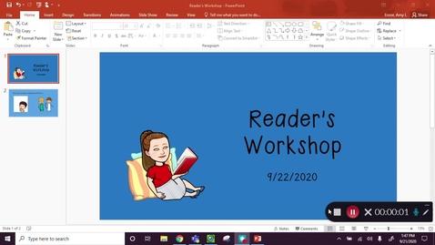 Thumbnail for entry Reading Workshop Sept 22
