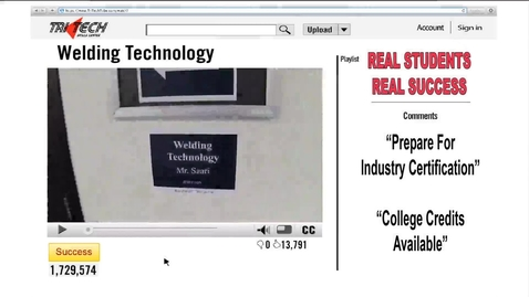 Thumbnail for entry Tri Tech Welding Technology 2013-2014