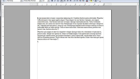 Thumbnail for entry Basic Formatting in OpenOffice.org™ Writer
