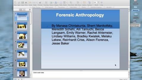 Thumbnail for entry LHWHS Forensic Anthropology B4 Adv. A&P Skeletorr
