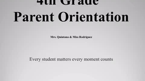 Thumbnail for entry Parent Orientation 2020 Video