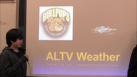 Thumbnail for entry ALTV Weather (Practice #4) 1-12-12