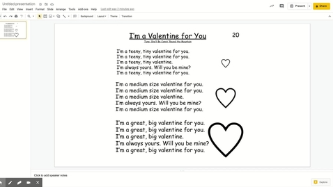 Thumbnail for entry I'm a Valentine for You