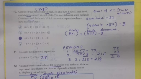 Thumbnail for entry Math - Chapter Review Part 2 - Monday September 21