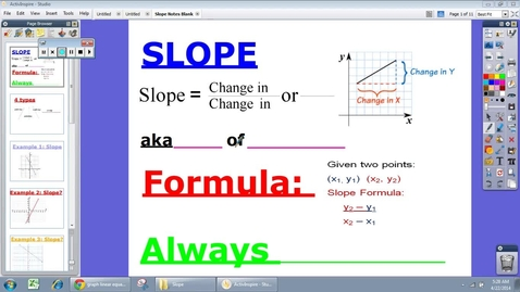 Thumbnail for entry Slope with examples