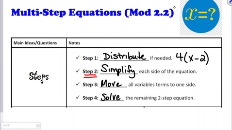 Thumbnail for entry Solve EQ (8-26) AH