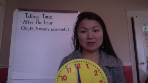 Thumbnail for entry Time Lesson 2 (Telling Time to the the hour and half hour.)
