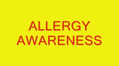 Thumbnail for entry Allergy Awareness