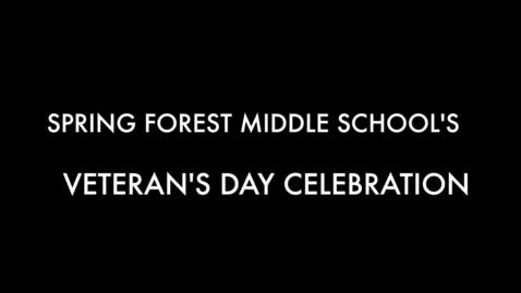 Thumbnail for entry SFMS Veteran's Day 2018