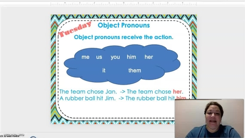 Thumbnail for entry Object Pronouns