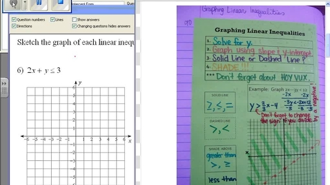 Thumbnail for entry Graphing Linear Inequalities #4