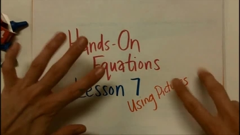 Thumbnail for entry Hands On Equations Lesson 7