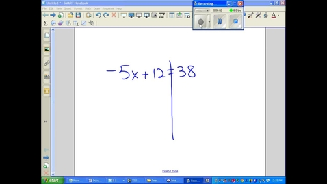 Thumbnail for entry Two step equations and inequalities example 2