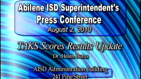 Thumbnail for entry Abilene ISD Press Conference