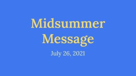 Thumbnail for entry Principal McKillop's Midsummer Message.mp4