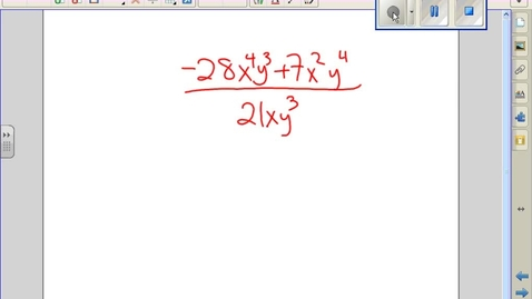 Thumbnail for entry Divide Polynomials classroom example #2