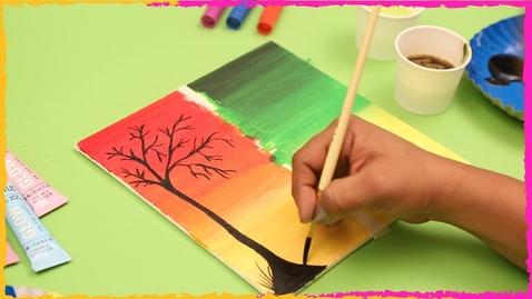 Thumbnail for entry Landscape Canvas Painting Ideas -DIY Easy Canvas/Acrylic Painting Ideas - Letstute Art