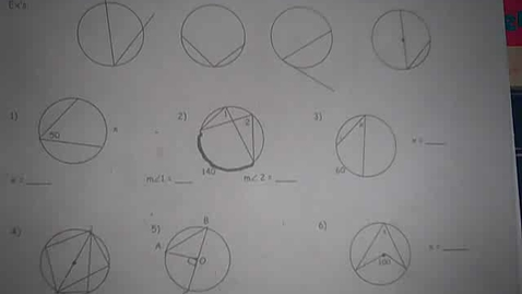 Thumbnail for entry Angles of a Circle
