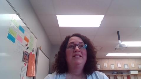Thumbnail for entry Mrs. Felten Day 2 Good Morning!