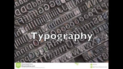 Thumbnail for entry Typography in Yearbook Newspaper Video Text