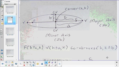 Thumbnail for entry Ellipse lesson pt 2   4-21-15