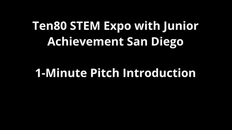 Thumbnail for entry Ten80 and JA San Diego Pitch Intro