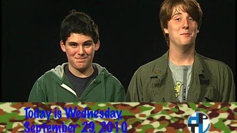 Thumbnail for entry Wednesday, September 29, 2010