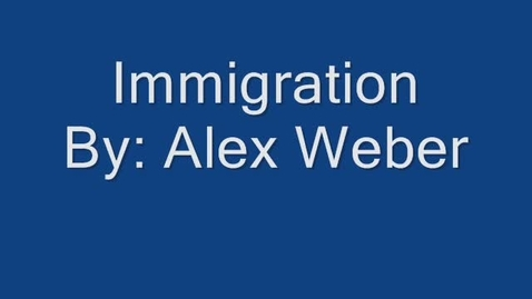 Thumbnail for entry Immigration