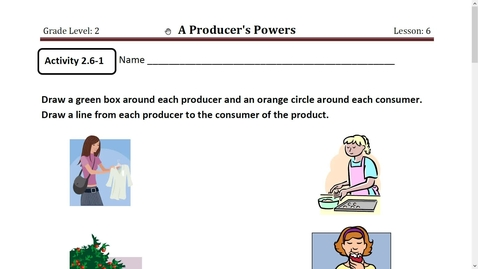 Thumbnail for entry Activity 9 A Producer's Powers Activity 1