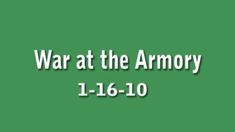 Thumbnail for entry 1-16-2010 War at the Armory...Amateur Boxing Bout 6 Patty vs. Pruitt