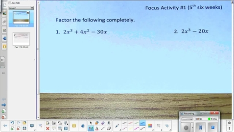 Thumbnail for entry Exponential function lesson pt 1  2-17-15