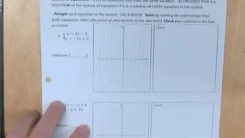 Thumbnail for entry 8.1b Solving Systems of Equations by Graphing