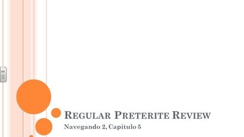 Thumbnail for entry Navegando 2.5 Regular Preterite Flip Video