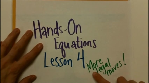 Thumbnail for entry Hands On Equations 4