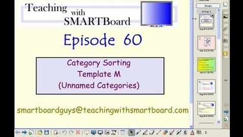 Thumbnail for entry Teachingwithsmartboard.com episode #60