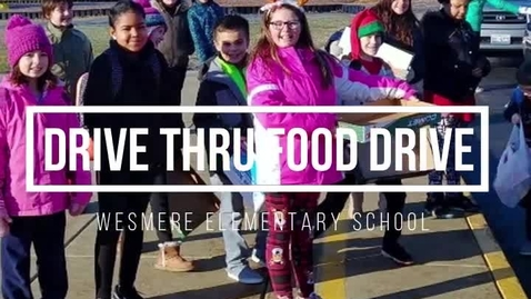 Thumbnail for entry Wesmere annual Drive Thru Food Drive