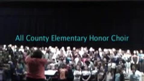 Thumbnail for entry All County Elementary Honor Choir Rehearsal