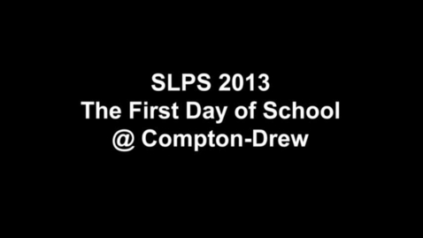 Thumbnail for entry SLPS 2013 First Day @ Compton-Drew