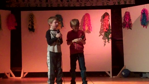 Thumbnail for entry Eli and Declan singing kaboom boom  Integrated Art academy