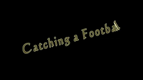 Thumbnail for entry Eric Flanigan - Challenge Catching A Football