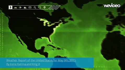 Thumbnail for entry Weather Forecast of the United States for May 9th, 2015 By Irene Katrina and King B