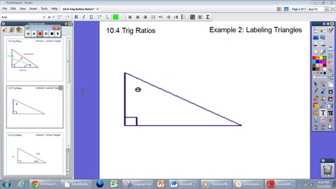 Thumbnail for entry 10.4 Trig Ratios #2