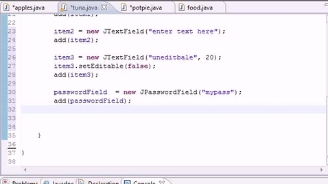Thumbnail for entry Java Programming Tutorial - 53 - ActionListner