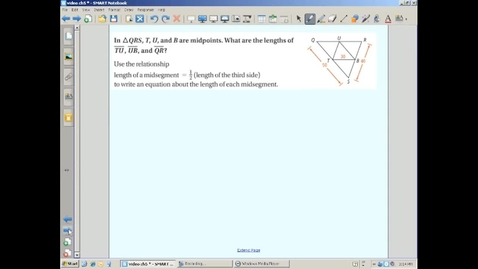 Thumbnail for entry Finding Lengths Using the Triangle Midsegment Theorem